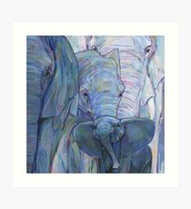 African elephants painting - 2012 Art Print