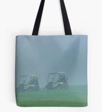 Golfer in the fog Tote Bag