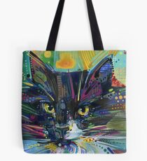 Black and white fluffy cat painting - 2011 Tote Bag