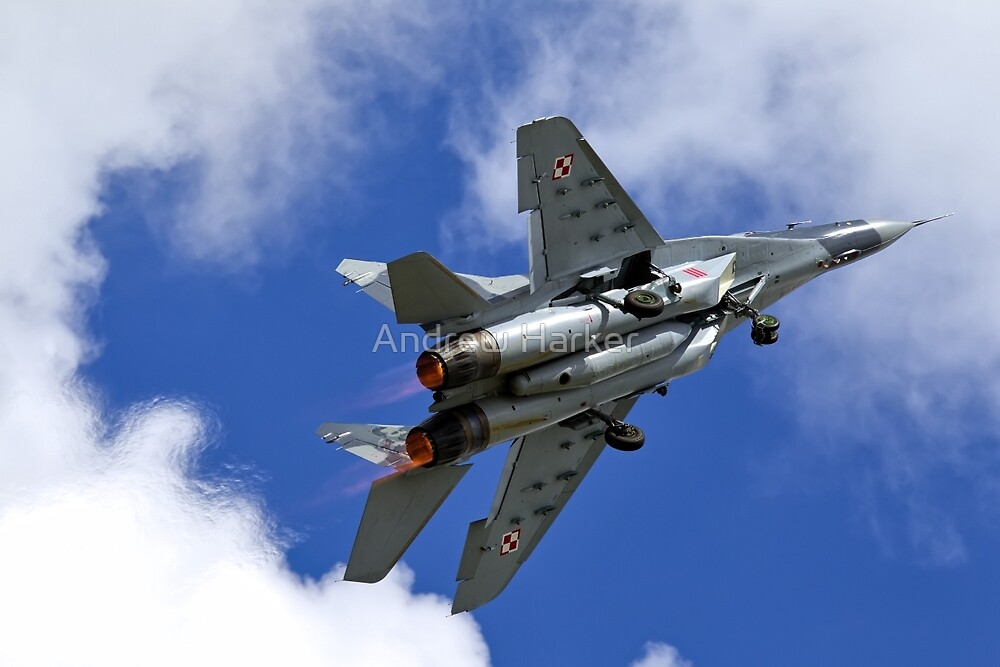 Polish Air Force Mikoyan Gurevich MiG 29A Fulcrum A, Red 111 by Andrew Harker