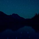 Big Dipper Reflected In Jenny Lake, Wyoming by A.M. Ruttle
