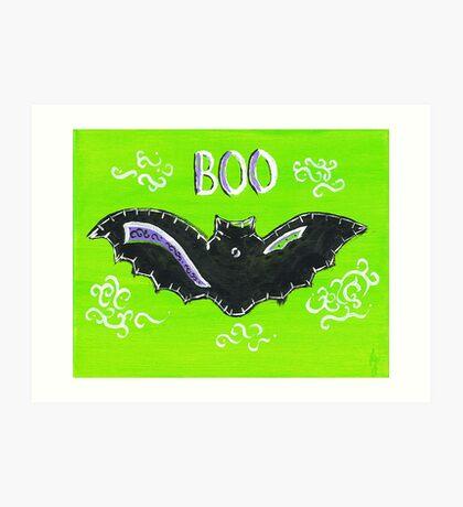 Baby Bat Boo Art Print