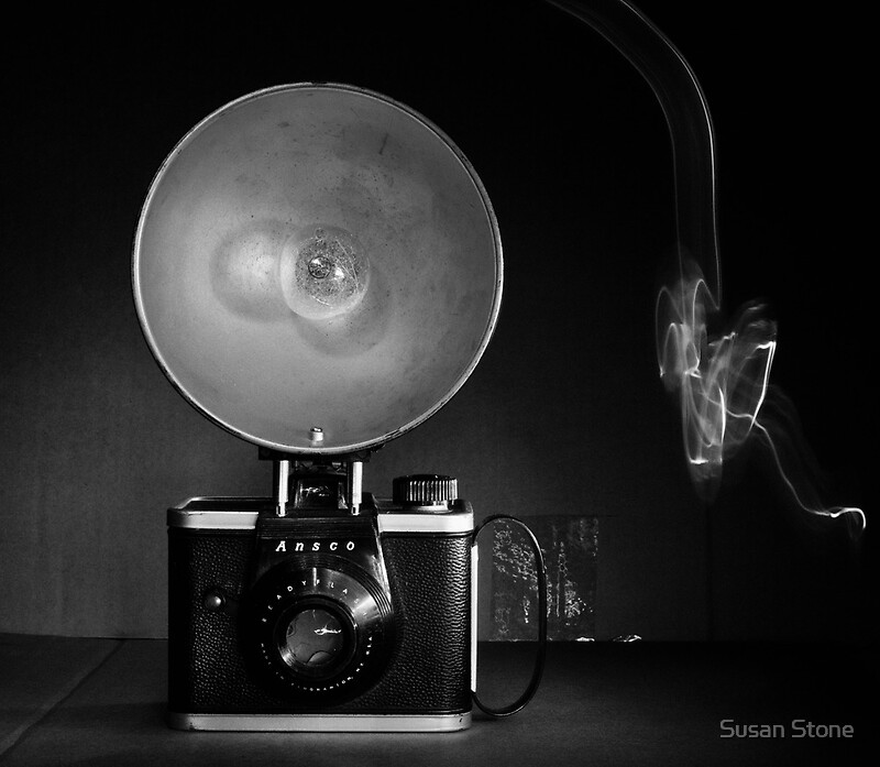 Quot Flash Bulb And An Ansco Camera Quot By Susan Stone Redbubble