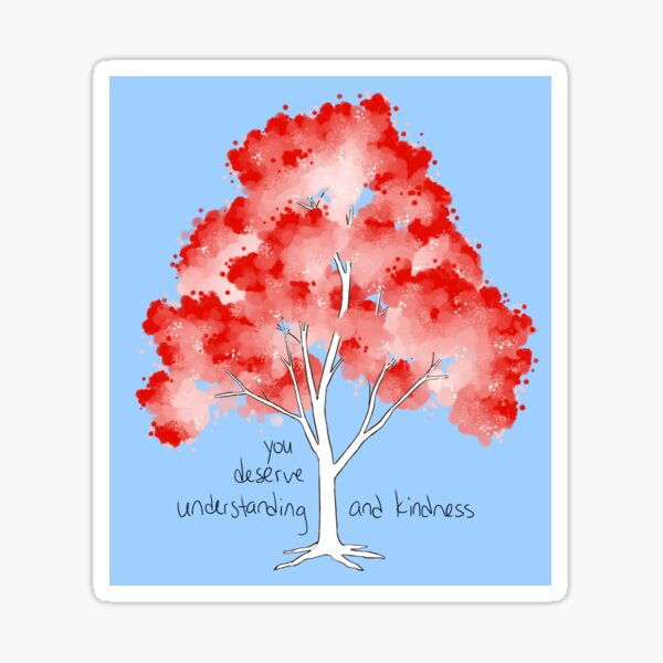 """Understanding and Kindness"" Tree Sticker"