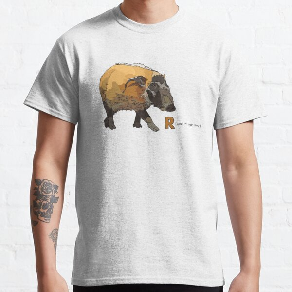 Funky Animal Alphabet: R is for Red River Hog Classic T-Shirt