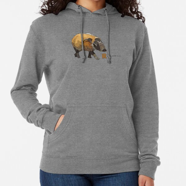 Funky Animal Alphabet: R is for Red River Hog Lightweight Hoodie