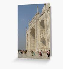 Taj Mahal and visitors Greeting Card