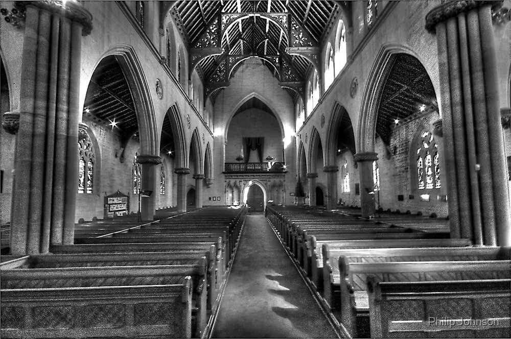 It's All Black & White - St Saviours Cathedral, Goulburn NSW Australia - The HDR Experience by Philip Johnson
