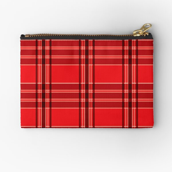 Red and Black, Persian Yazd Shiraz Traditional Old Pattern  Zipper Pouch