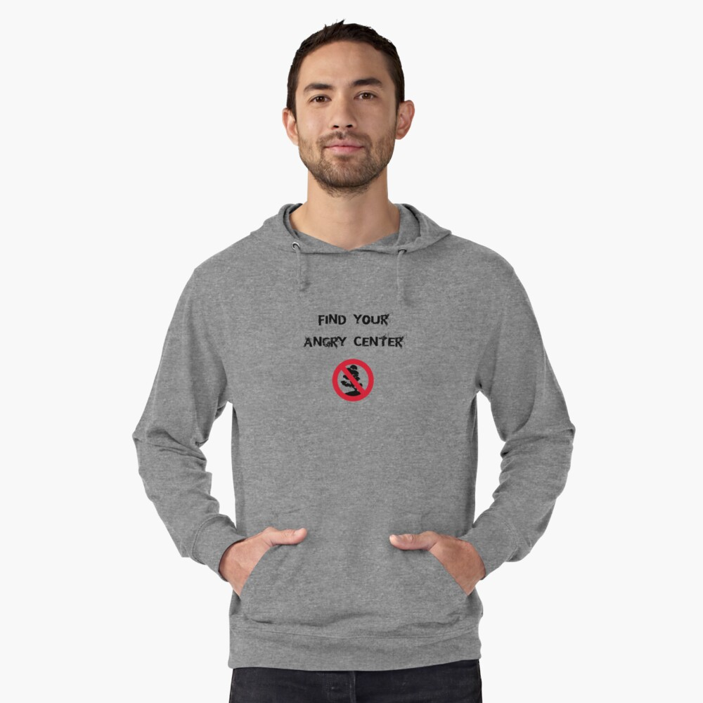 Angry Center Lightweight Hoodie Front