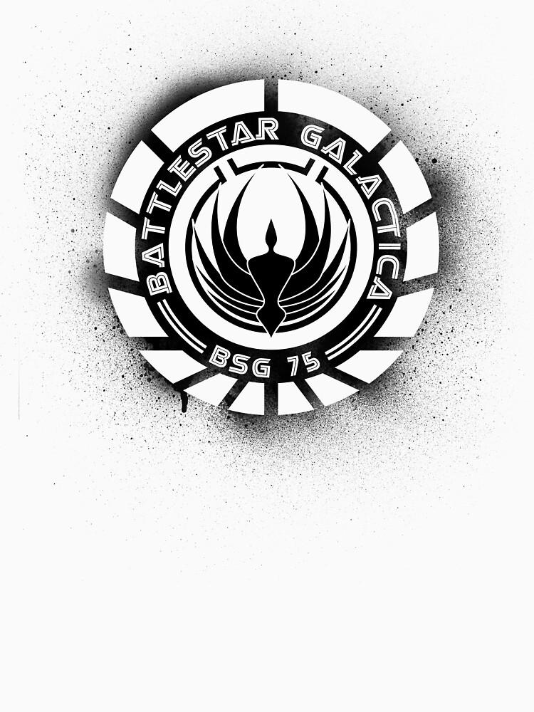 Battlestar Galactica Grunge - Blue line | Unisex T-Shirt