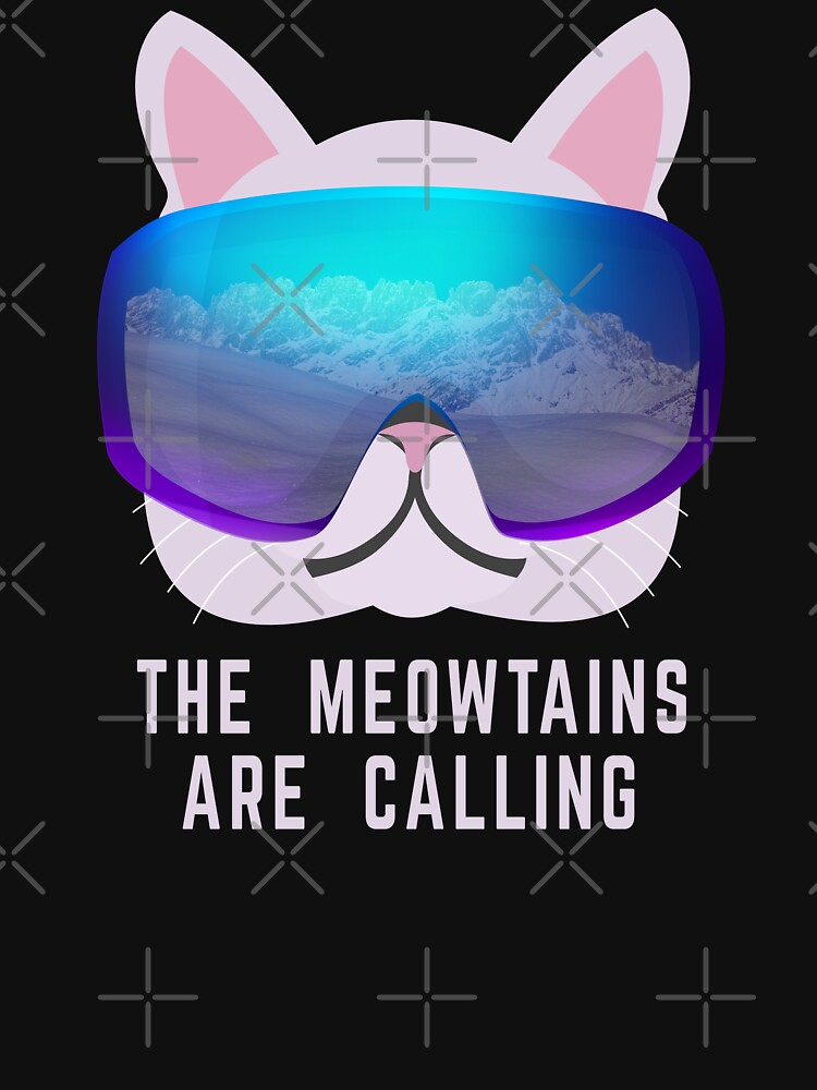 The Meowtains are calling Ski Cat by PlantVictorious