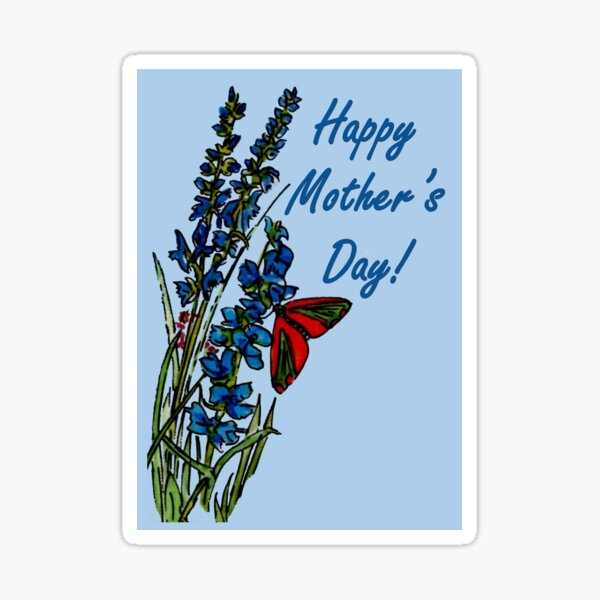 Feeling Blue - Mother's Day Card Sticker