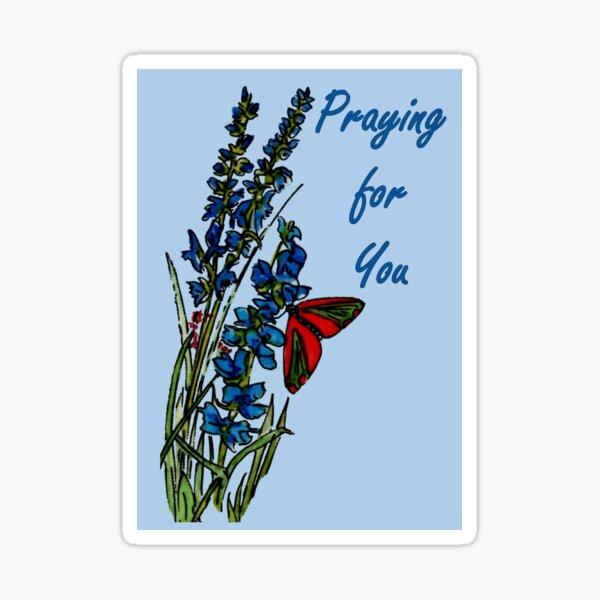Feeling Blue - Praying for You Card Sticker