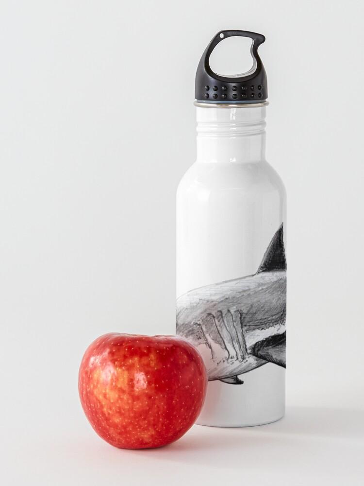 Alternate view of Great white shark Water Bottle