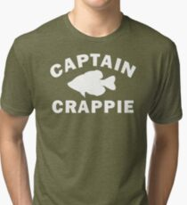 Captain Crappie Tri-blend T-Shirt