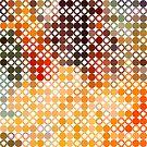 Modern Colorful Geometric Circles And Stars Pattern by artonwear
