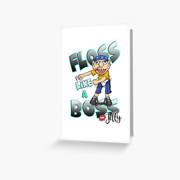 Jeffy Floss Like a Boss - SML Greeting Card