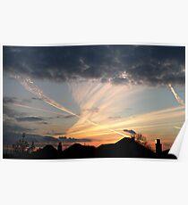 Layered Sunset - Berrylands, Surrey Poster
