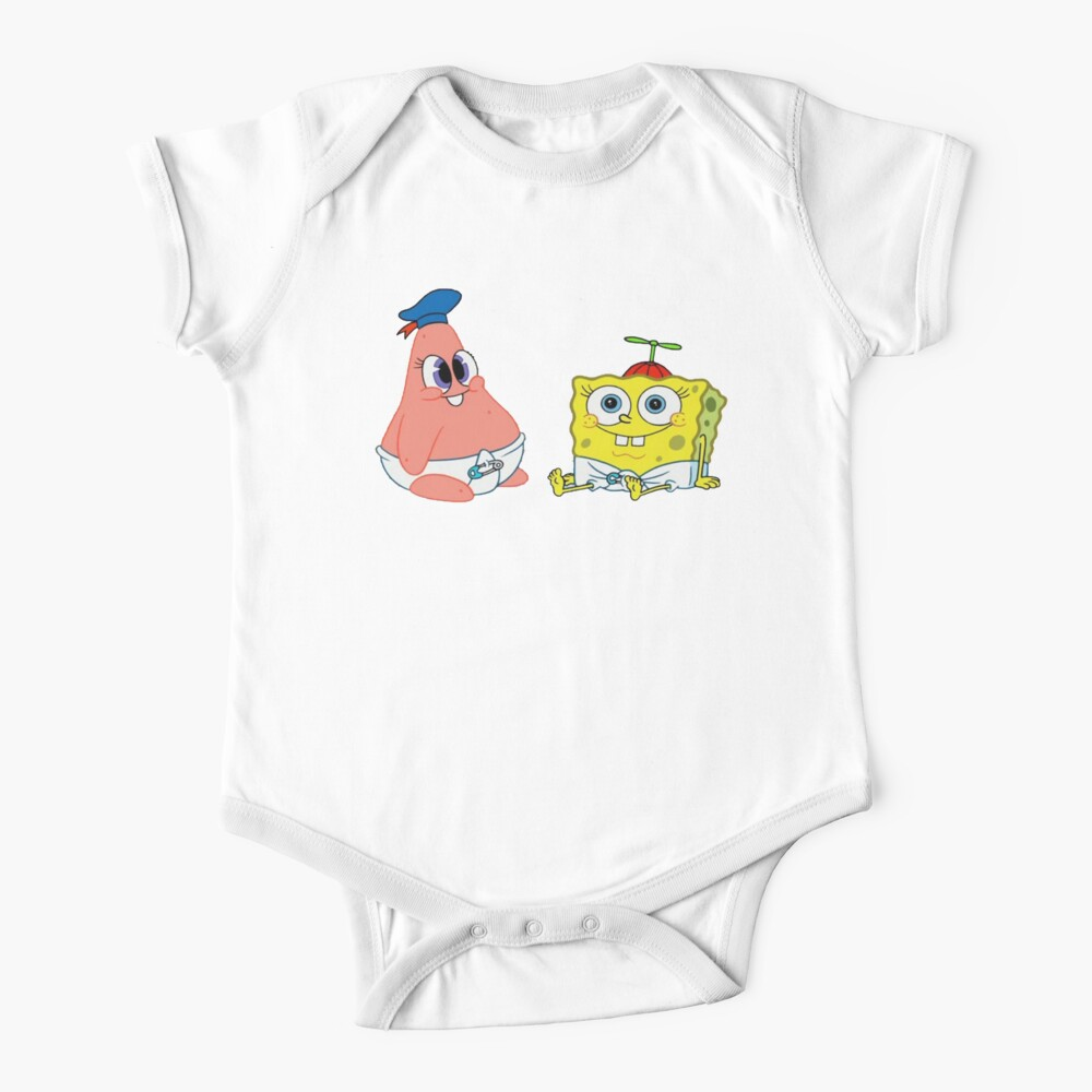 baby Patrick star and sponge bob Baby One-Piece