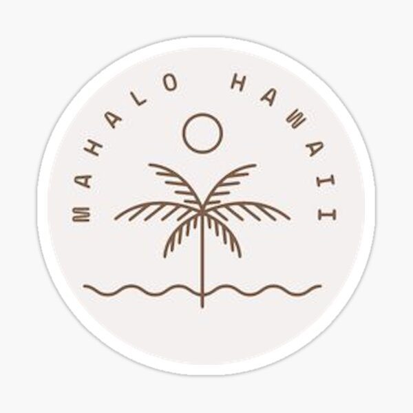 mahalo hawaii Sticker