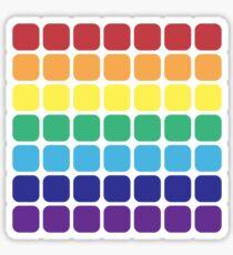 Rainbow Square - Dark Background Sticker