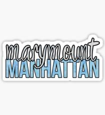 Marymount Manhattan Two-Tone Sticker