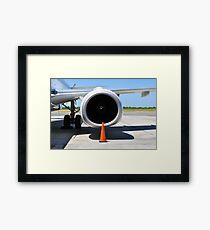 Air transportation: Jet engine detail. Framed Print