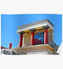 Archaeological site of Knossos. Minoan Palace. Crete. Poster