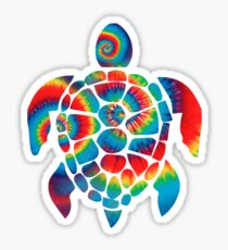 Tie Dye Turtle Sticker