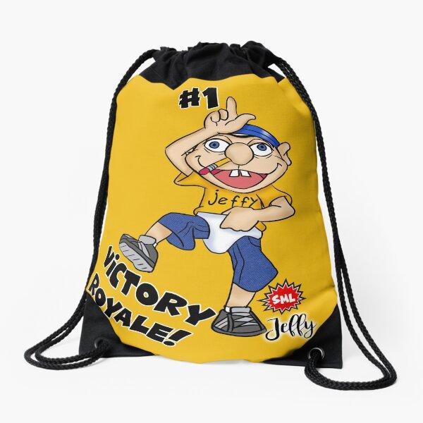 Jeffy Victory Royale Funny Dance Drawstring Bag