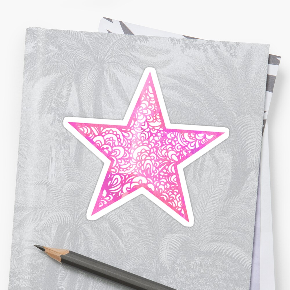 Pink Star by hayleylauren