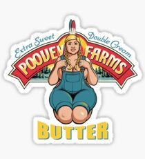 Poovey Farms Butter Sticker