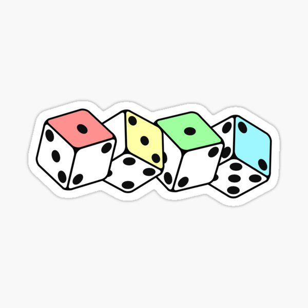 Pastel Dice - ACAB/1312 Sticker