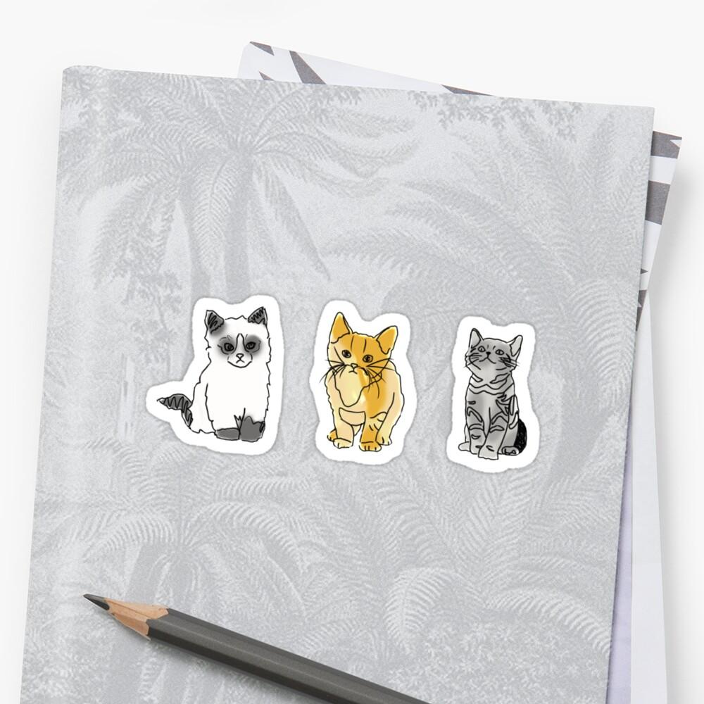 Katze Tumblr Zeichnungen Sticker