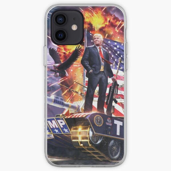 Trump on a Tank iPhone Soft Case
