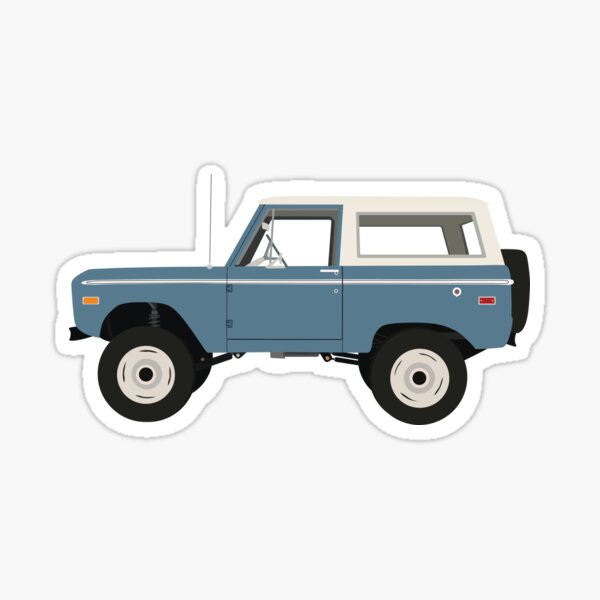 Blue Ford Bronco Sticker