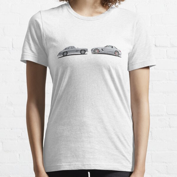 Benz SL300 to AMG SLS Gullwing Evolution Car Illustration Essential T-Shirt