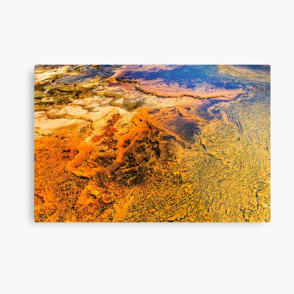 Mineral Deposits Abstract Yellowstone National Park Metal Print
