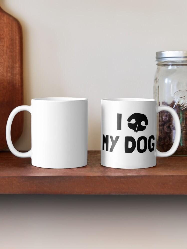 Alternate view of I Love My Dog - Snout Mug