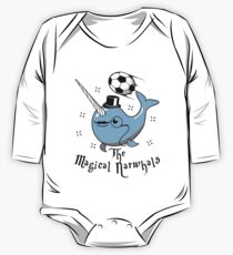 The Magical Narwhals Soccer Club Logo - Light One Piece - Long Sleeve