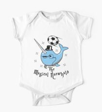 The Magical Narwhals Soccer Club Logo - Light One Piece - Short Sleeve