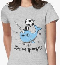 The Magical Narwhals Soccer Club Logo - Light Womens Fitted T-Shirt