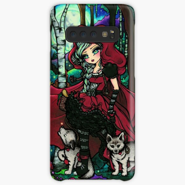 Red Riding Hood with Big Bad Wolf Pups Samsung Galaxy Snap Case