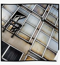 Decayed Glass Panes Poster