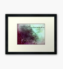 some things just won't erase Framed Print