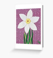 Narcissus pseudonarcissus Greeting Card