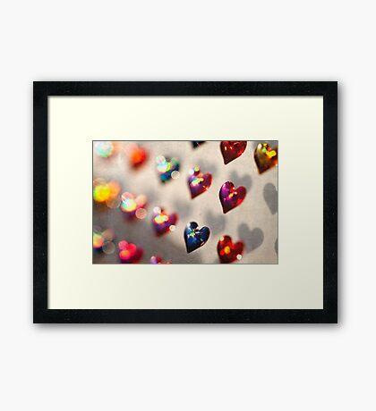 Stuck on Hearts Framed Print
