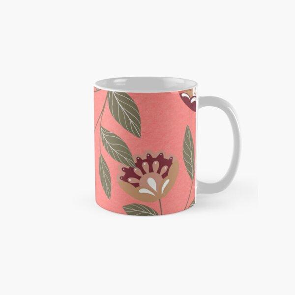 Pink Floral Design Classic Mug