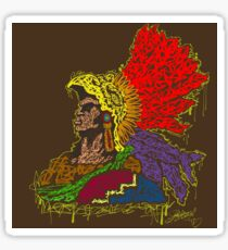 Aztec graffiti Sticker